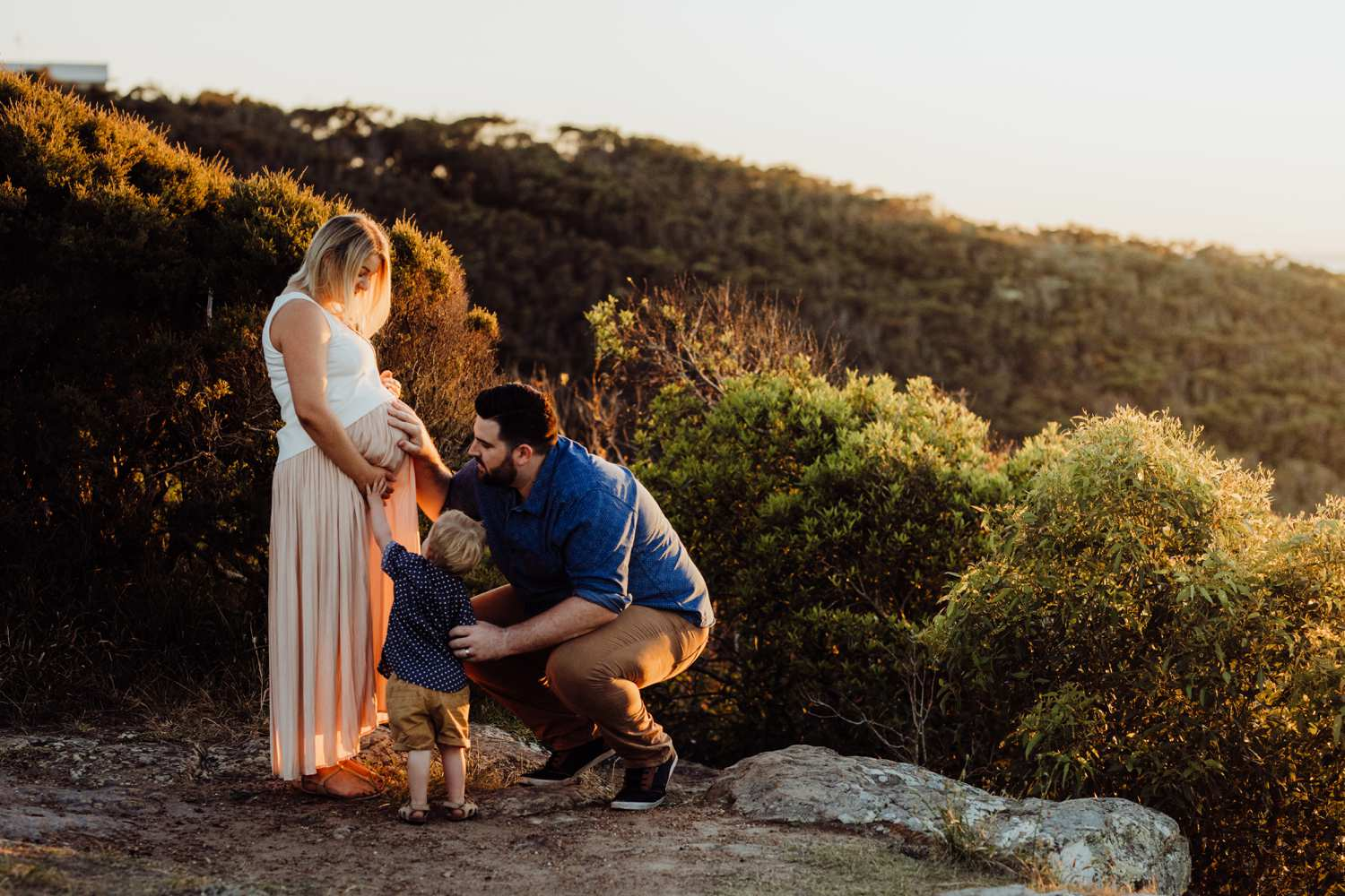 Maternity sunrise photography