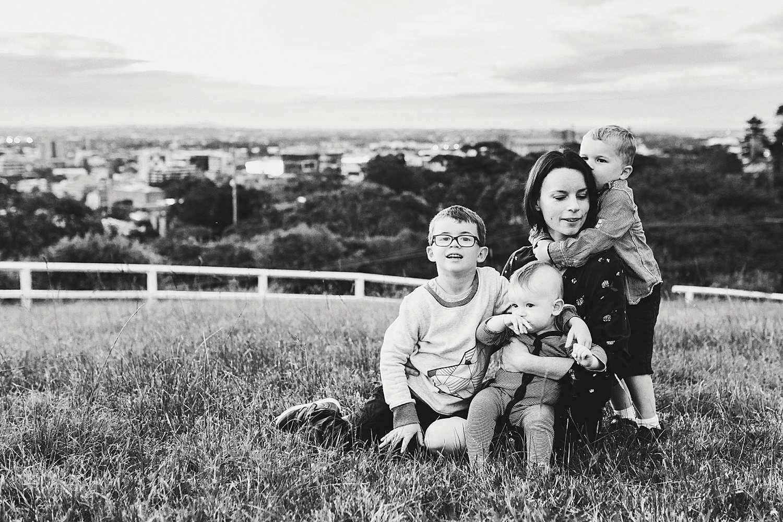 Newcastle family sunset