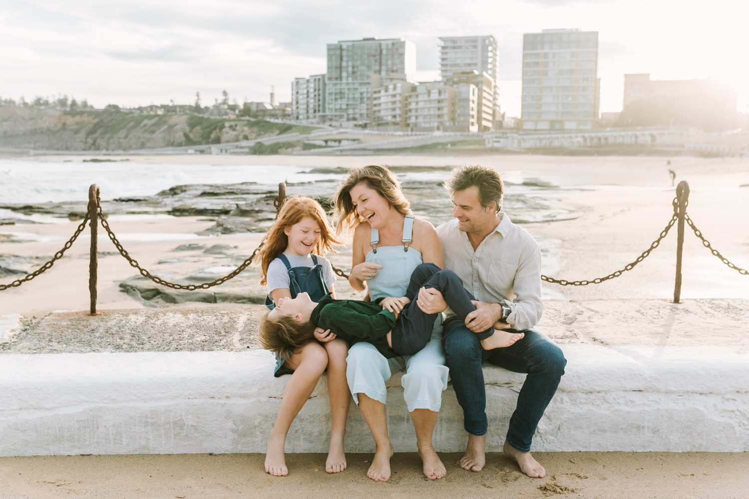 Family photography Newcastle Beach